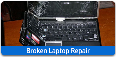 Broken laptop repair